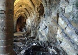 Chillon castle lowest floor. Montreaux, Geneva
