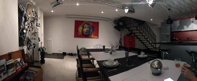 The breakfast area. Vevey, Geneva.