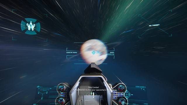 Star Citizen tutorial image showing hyperspace toward a chosen destination