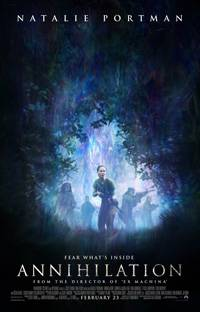 a poster for the film Annihilation with NAtalie Portman is now available on Netflix UK