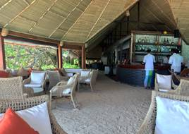 A view of the bar area on Makanudu Island in the Maldives