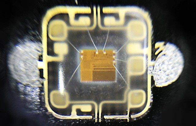 A photo of a CPU embedded inside a contactless card.