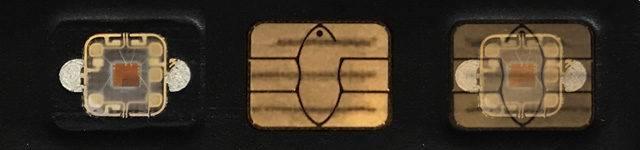 A contactless credit card CPU