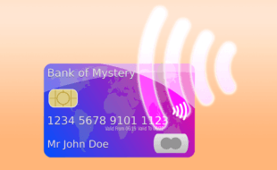 a contactless credit card