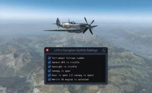 A FlyingIron Spitfire Settings Utility