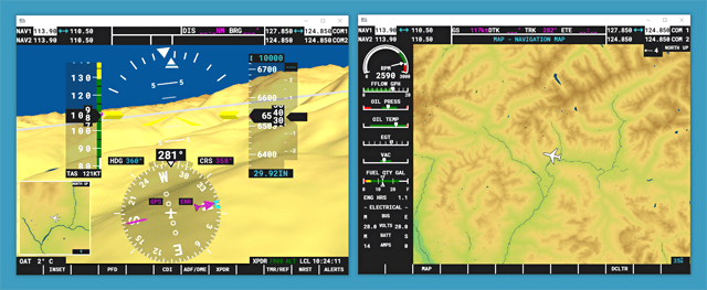 Microsoft Flight Simulator popout instrument panels