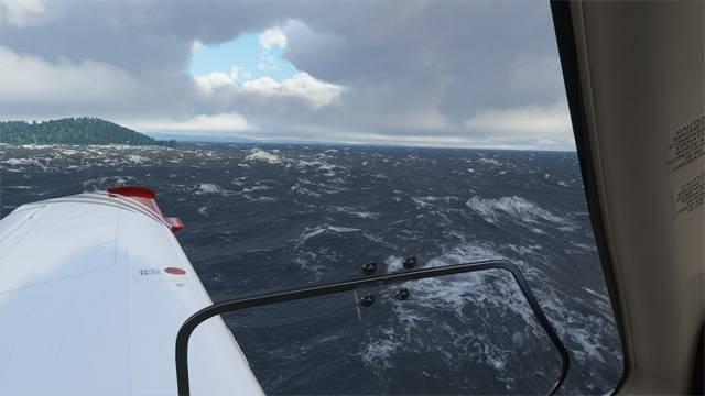 Sea in the Microsoft Flight Simulator